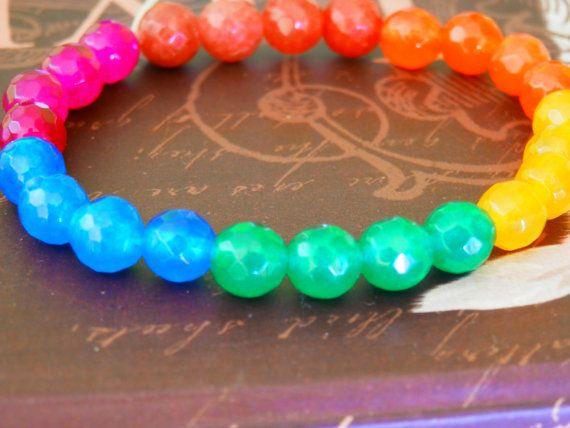 pulsera de pulsera-arco iris de orgullo por BeautifulBraceletsBB