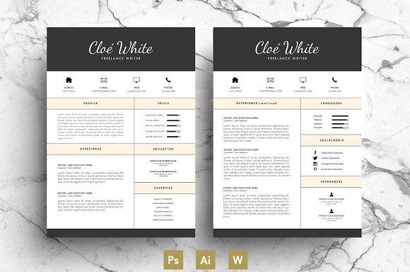 Best Creative CV Template / Resume
