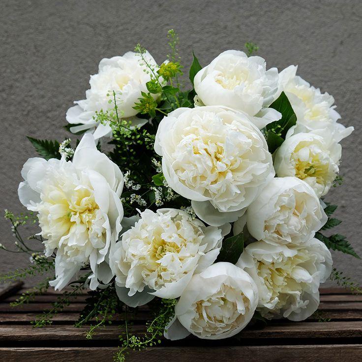 Ramo de Peonías Blancas | Floristería Bourguignon #peony #bouquet