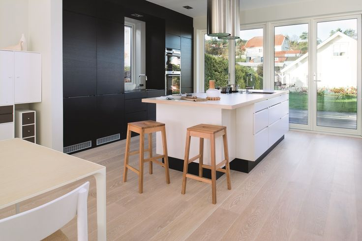 Main feature of the Pure Nordic style is light wood. BOEN Parkett.