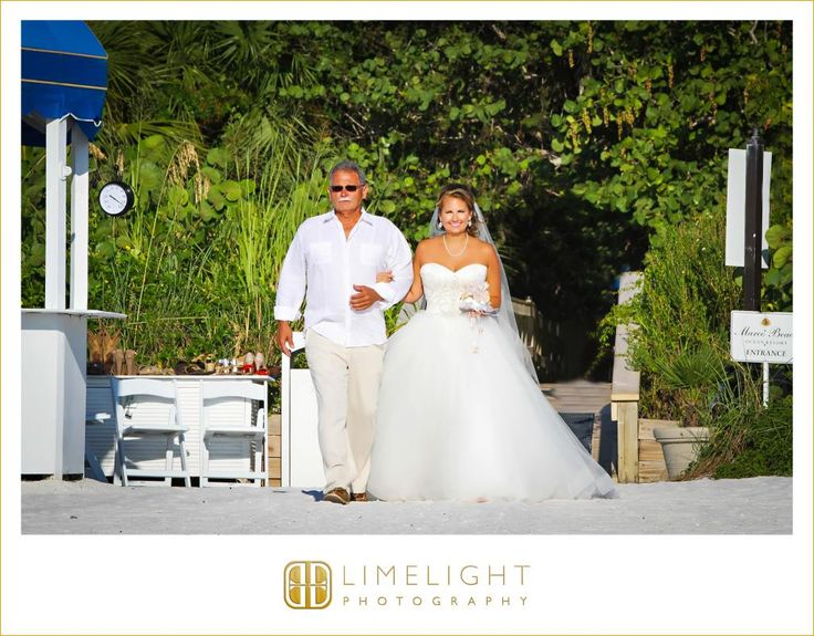 Beach Wedding Bride Father Of The Marco Resort Photography