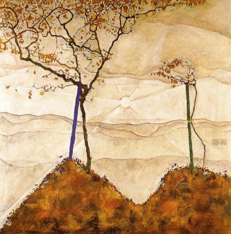 Egon Schiele. Sol de otoño (Salida del sol). 1912 (09/06/14 - 15/06/14)