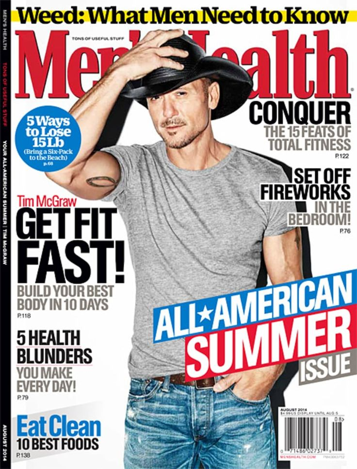 tim mcgraw men's health cover