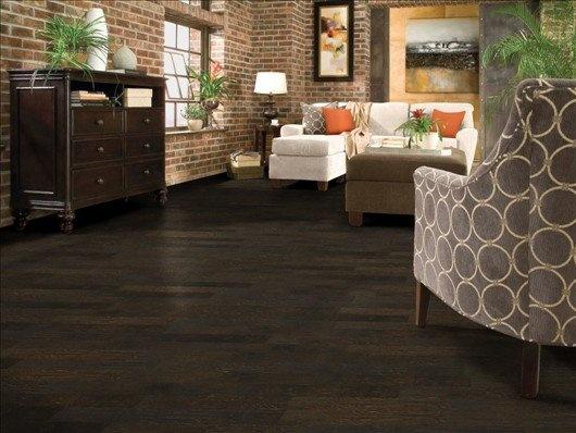 Rural Living Extra Dark Hickory Hardwood Flooring On