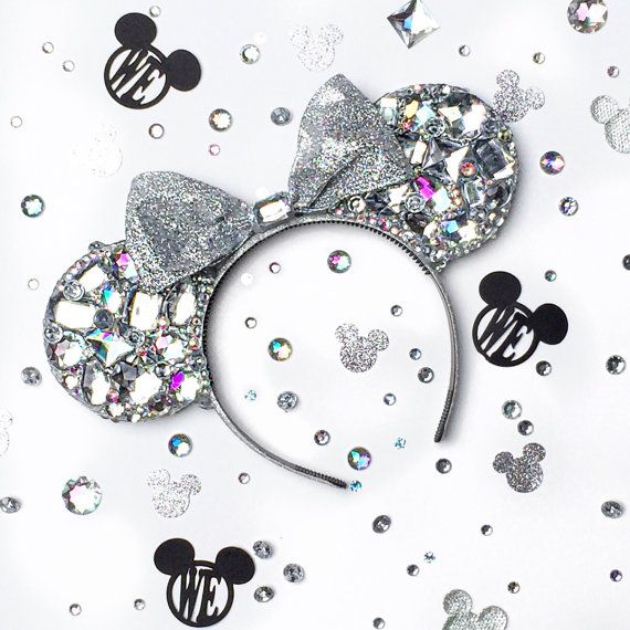 Sparkly Diamond Crystal Mouse Ears by wickedEars on Etsy
