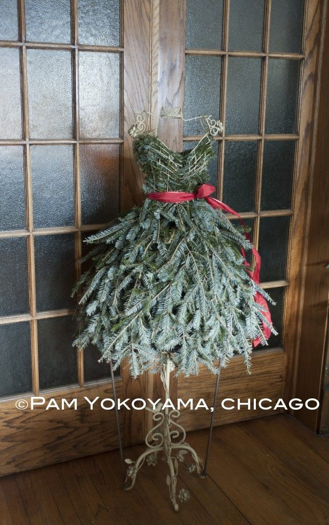 Repurposed Christmas Tree Dress Form by 4 Seasons Painting & Landscaping, Chicago; Photo courtesy of Jim Meacci