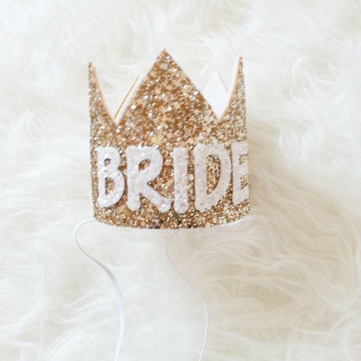 BRIDE Crown, wedding, Bachelorette,  Bachelorette party, glitter crown, crown headband by Kutiebowtuties on Etsy https://www.etsy.com/listing/211442490/bride-crown-wedding-bachelorette
