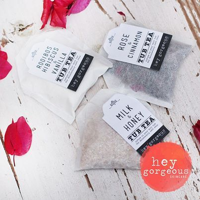 """We are so smitten with our new Tub Teas. These adorable little bath """"tea"""" bags are divine. Pop one in our bathtub and it will release gorgeous minerals to soften skin, soak away the strains of the day and calm a busy mind with their gorgeous fragrances."""