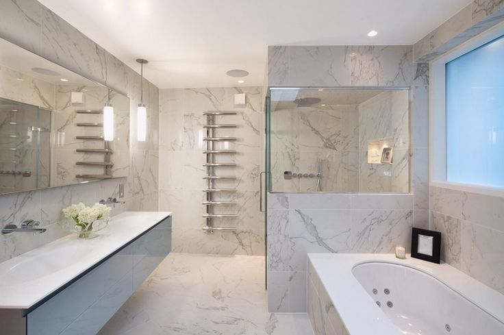 grey contemporary bathroom