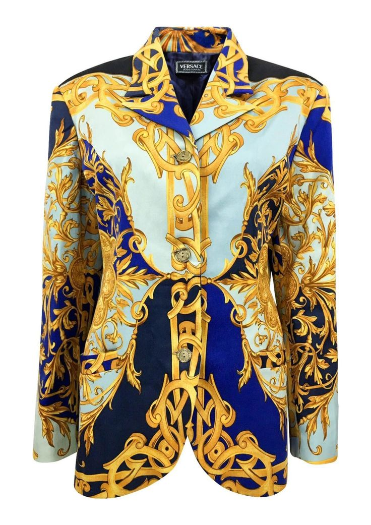 Versace Couture Baroque Print Jacket - 1990s via House of Pre-Loved - Vintage Boutique. Click on the image to see more!