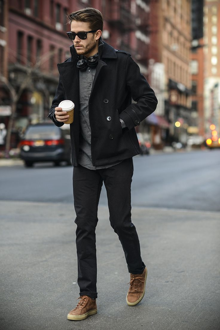 Adam Gallagher - 2015!  Here's a quick style shot yesterday in freezing SoHo - Wearing:  Jcrew shirt, Jcrew jeans, Coloquy sneakers, Rayban Sunglasses, Master & Dynamic headphones, Featurin: Express jacket. (Photos: Nick Pierce) - See more: http://iamgalla.com/2015/01/2015/