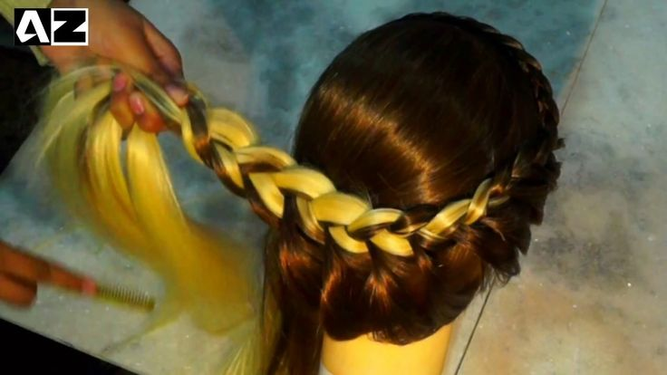 French Braid Bun Wedding Hairstye - Braided chignon - YouTube