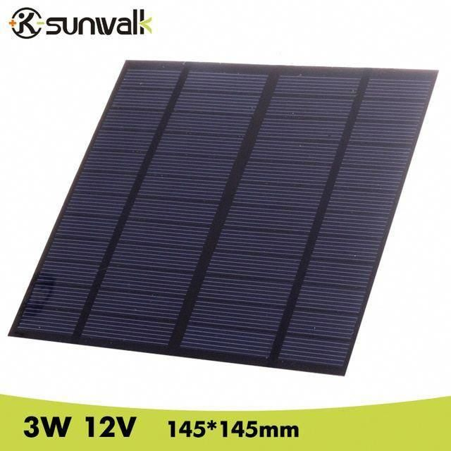 Sunwalk Solar Panel 12v 3w Eva Pet Solar Panel Mini Solar Cell Polycrystalline Silicon Solar Diy Modu In 2020 Solar Energy For Home Solar Technology Solar Installation