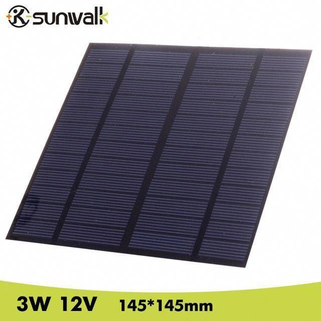 Sunwalk Solar Panel 12v 3w Eva Pet Solar Panel Mini Solar Cell Polycrystalline Silicon Solar Diy Modu In 2020 Solar Energy For Home Solar Technology Solar Installation
