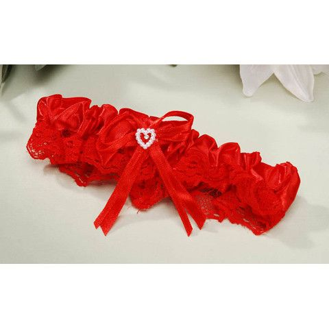 Victoria Lynn Lace Garter. Red |1 ct