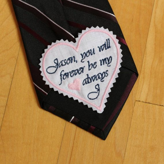 Custom Message Groom Tie Patch. Best Groom Gift. by Snugahug