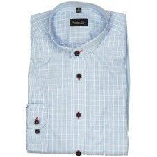 Koszula w kolorze niebieskim na stójce