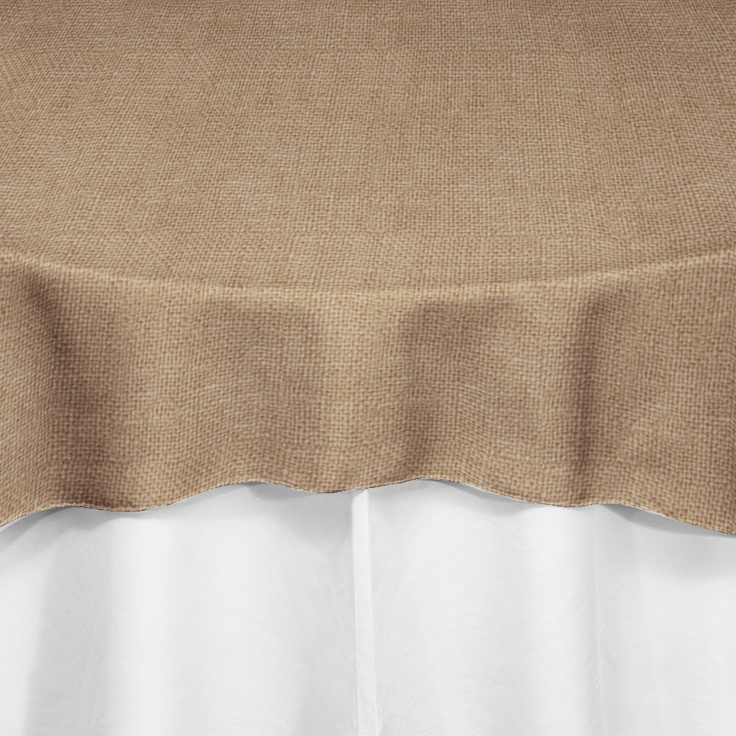 Burlap overlay by chair covers linens for Burlap and lace bedroom
