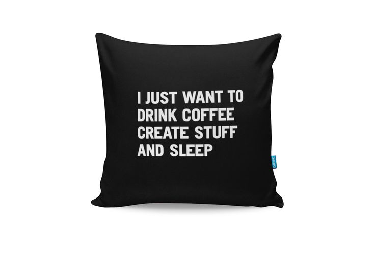 I Just Want To Drink Coffee Throw Pillow from Cyankart
