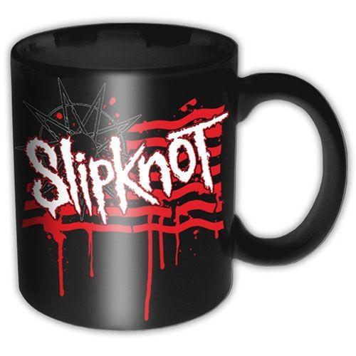 Slipknot Boxed Premium Mug: Dripping Flag & Logo Wholesale Ref:SKMUG08