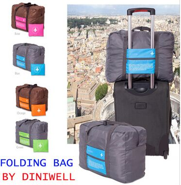 Brand new folding 32L women luggage travel bags lightweight men's travel bags design flight approved duffle weekend tote TB00001