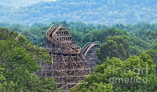 wooden roller coaster, roller coaster, wood coaster, paul ward