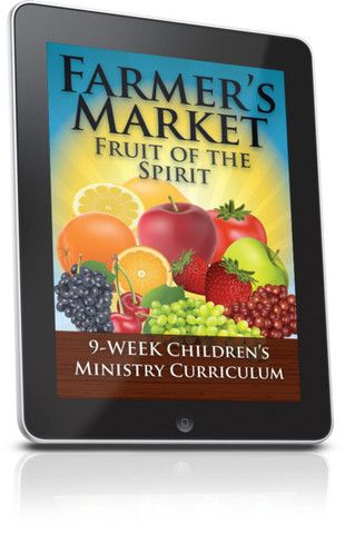 Free Children's Ministry Lesson that teaches kids the Fruit of the Spirit. This lesson is from the Farmer's Market 9-Week Children's Ministry Curriculum series.