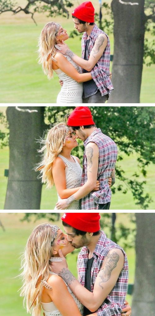 Zerrie is beautiful and Zayn in a red beanie I CANT