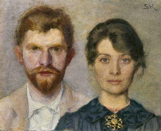 Double portrait of Marie Krøyer and P.S. Krøyer. (1890)   Skagens Kunstmuseer    Art Museums of Skagen