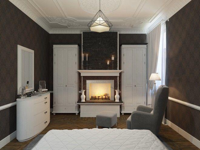 Спальня. Квартира в современном классическом стиле, г. Пушкин