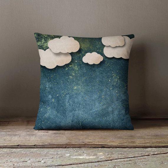 Night Paper Clouds Pillowcase