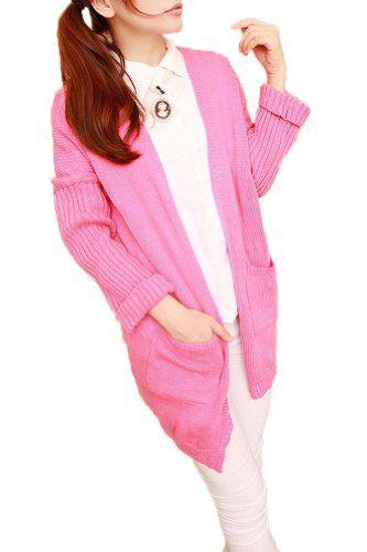 $46.24 awesome Vangood Womens Loose Bat Sleeve Pocket Long Cardigan Sweater