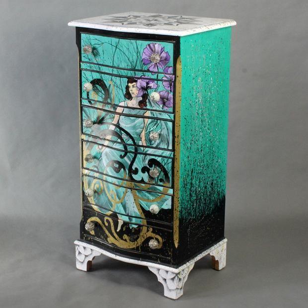 Zdjęcie numer 8 w galerii - Polski projekt: ręcznie malowane meble od Art PoPo