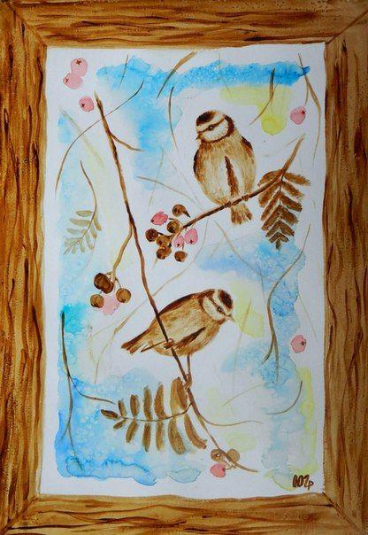coffee and watercolor, Julia Latte www.delopodushe.org