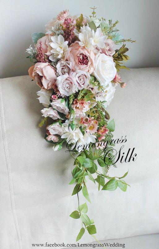 Www Facebook Com Lemongrasswedding Silk Flower Waterfall
