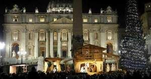 arbol navidad pesebre vaticano plaza san pedro papa francisco