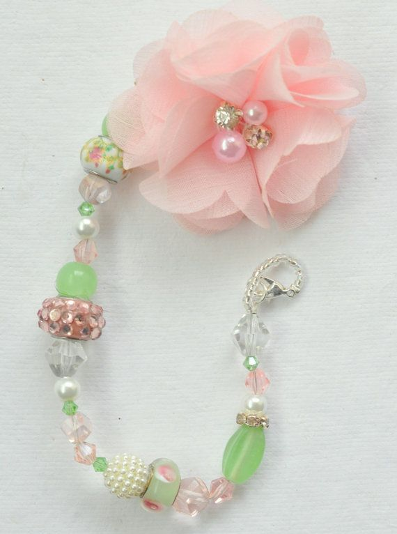 Hey, I found this really awesome Etsy listing at https://www.etsy.com/listing/223197617/binky-holder-light-pink-flower-with-pink pacifier clip