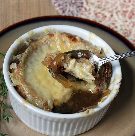 Slow Cooker French Onion Soup - I had to do half a recipe because I didn't realize I only had 3 onions. I also caramelized them on the stove top. Yummy recipe!!