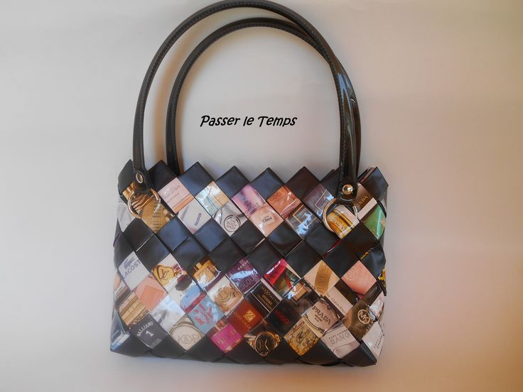 Handbag from magazine pages