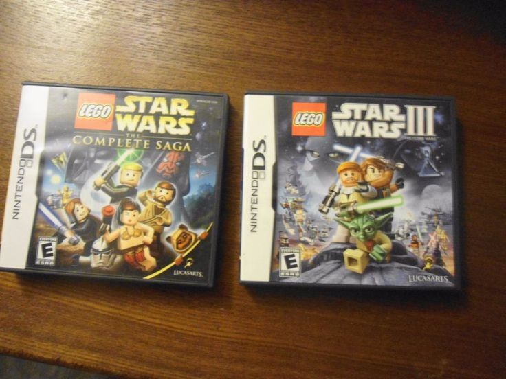gift idea 2 Nintendo DS Games The Clone Wars and The Complete Saga Game & case  #Nintendo