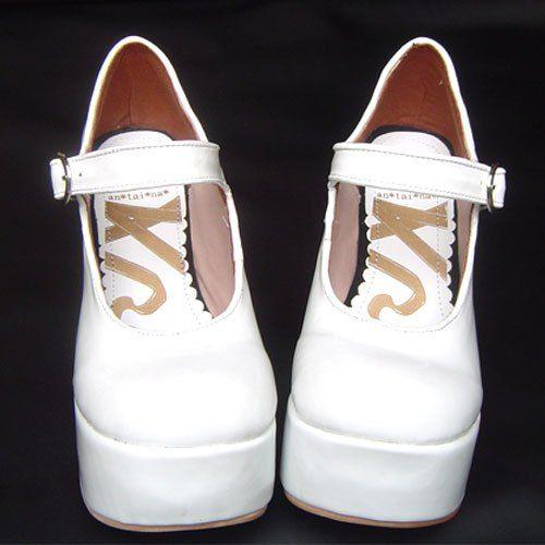 ◢an*tai*na*◣ LOLITA COS PUNK富貴高跟漆皮女王鞋 9829 黑