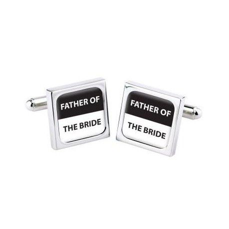 """Manchetknopen Bliss """"FATHER OF THE BRIDE"""" Deze prachtig manchetknopen zijn speciaal ontworpen voor de mooiste dag uit je leven."""