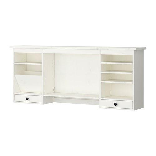 Ikea 365 glass clear glass extra storage white hutch for Desk hutch organizer ikea