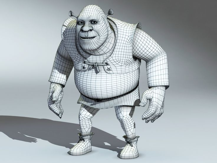 Image result for shrek 3d model