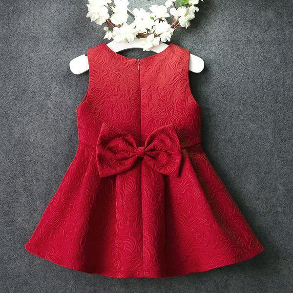 Девушки жилет юбка платье без рукавов красная детская юбка детская юбка жилет жаккард Принцесса юбка весна и осень зима новый