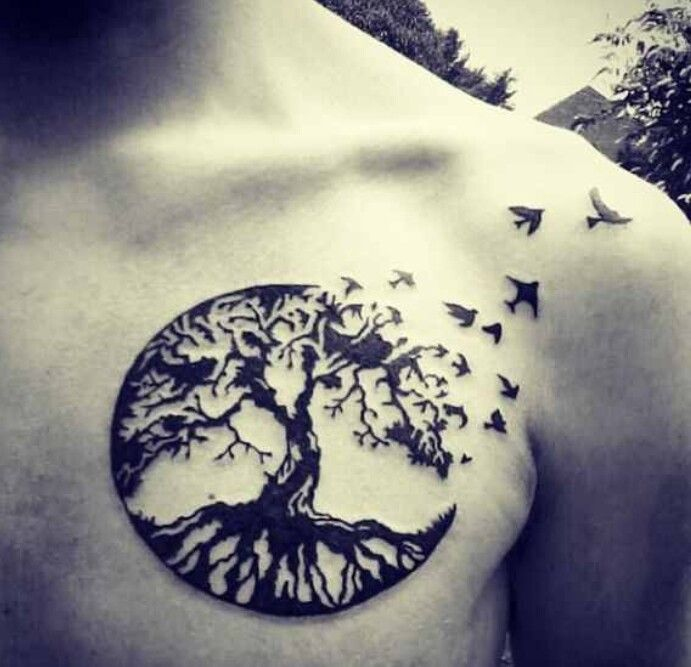 Tree of life: everything is connected. roots to remind you where you come from, and branches to remind you of what you can become