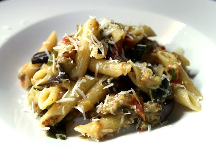 Roasted Vegetable Pasta by Herbie Likes Spaghetti