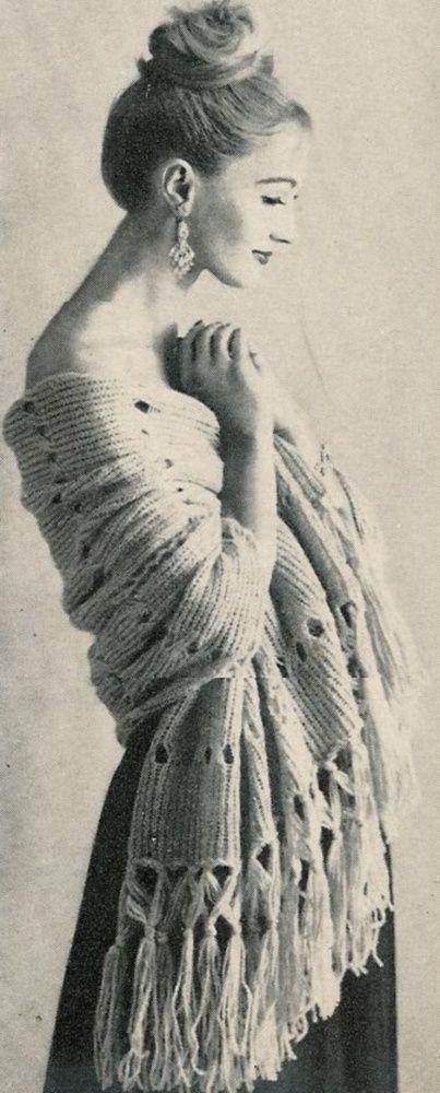 Vogue Knitting 1960 Vintage Stole with by vintagemadamedefarge, USD2.50 Vinta...
