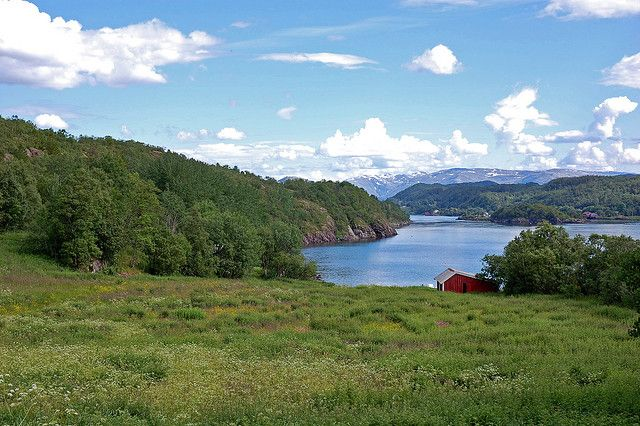 View from our summer residence - Meisfjorden - Norway