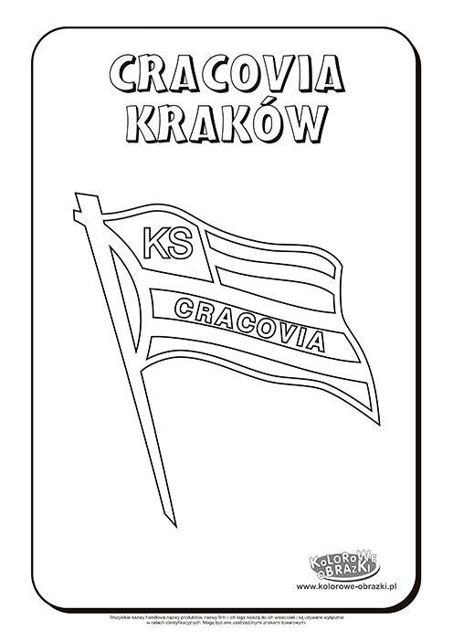 Cracovia Kraków logo kolorowanka | Kolorowanki dla dzieci